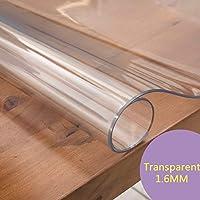 PVC 軟質ガラストランスペアレントテーブルクロス保護フィルム,防水耐油性ですスクラブ可能テーブルカバーダイニングテーブル、木製テーブル、デスクに使用,A-70x140cm(28x55inch)