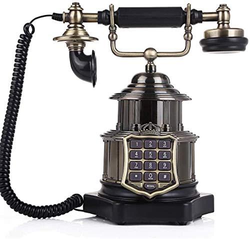 Oficina Teléfono Fijo Teléfono Europeo Retro Teléfono por Cable Adornos Antiguos Cuerpo de Metal nostálgico
