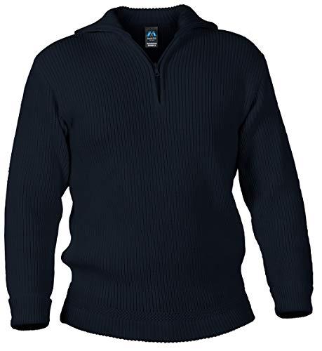 Blauer Peter - Merino Troyer - Pullover - 10 Farben, Farbe:Marine, Größe:54