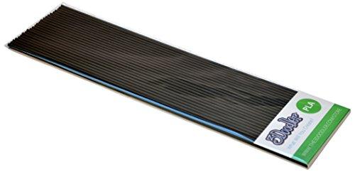 3Doodler- Create Paquete de Recambio de filamento de impresión 3D PLA (25 hebras, más de 200 pies de plástico extruido) - Esmoquin Negro, Color Black (HCM Kinzel PL01-TUXB)