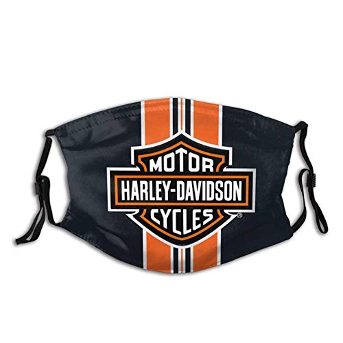 KEROTA Motor Harley Motorrad Davidson Face Cover,Unisex Bandana Cuello Polaina,Lavable Cómodo Ajustable Cubierta de la Boca para Protección-Motor Harley Motorrad Davidson Mask-1 PCS