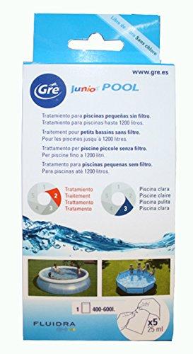 Gre KKP525 Kit de Tratamiento químico para Piscinas pequeñas sin filtración, 5 Unidades, Blanco, 8.5x3x17.5 cm