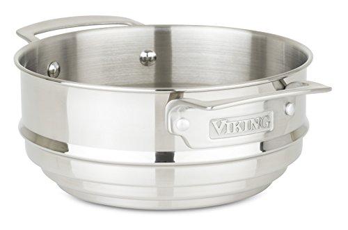 Viking Culinary Edelstahl Universal Dampfgarer Einsatz 8 Silber
