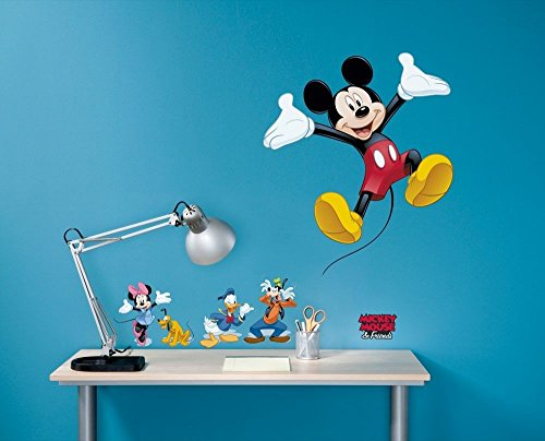 Komar - Disney - Deco-Sticker MICKEY AND FRIENDS - 50x70cm - Wandtattoo, Wandsticker, Wandaufkleber, Wandbild, Mickey Maus, Minnie Maus - 14017h, Bunt
