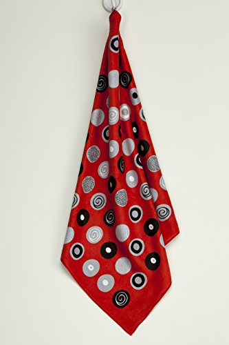 """Skoy Kitchen Towel, Recycled Polyester Towel for Dishes, Glassware, Cookware and Hands, Reversible Design, Absorbent Kitchen Towel, 18"""" x 24"""", Red"""