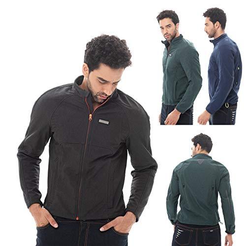 Motorjack -Vigor - motorfiets protector jas heren jeans-look korte roller jas textiel mannen X-Large blauw