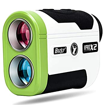 Bozily Golf Rangefinder 1500 Yards 6X Hunting Laser Range Finder with Slope On/Off and Continuous Scan Mode Fast Flag-Lock with Vibration for Distance and Slope Measurement