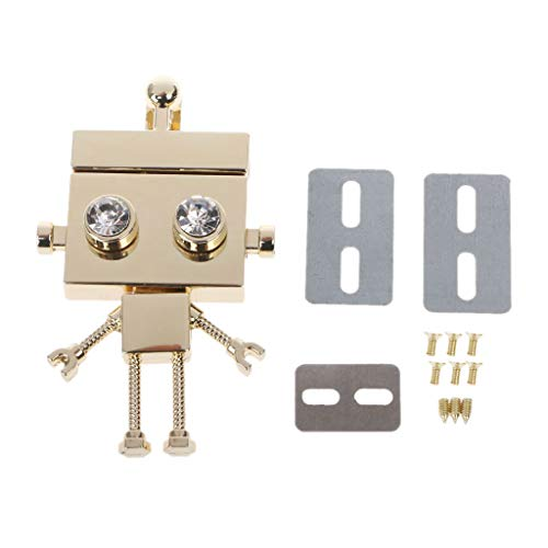 ruiruiNIE Robot Shape Corchete Cerradura Cerradura Cerraduras de Torsión, Bolso de Metal Broche de Cerradura Hardware de Metal Accesorios de Bricolaje