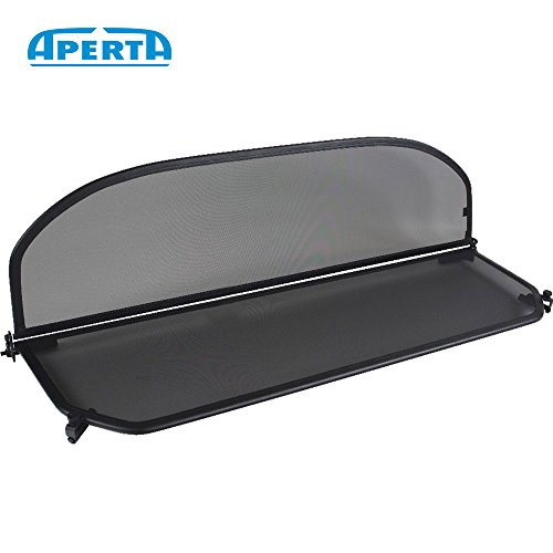 Aperta Black wind deflector compatible with BMW 3 Series E93   Tailor made windblocker   Draft-stop   Windstopper BMW convertible