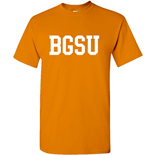Block BGSU Bowling Green State University Basic T-Shirt - 2X-Large - Orange
