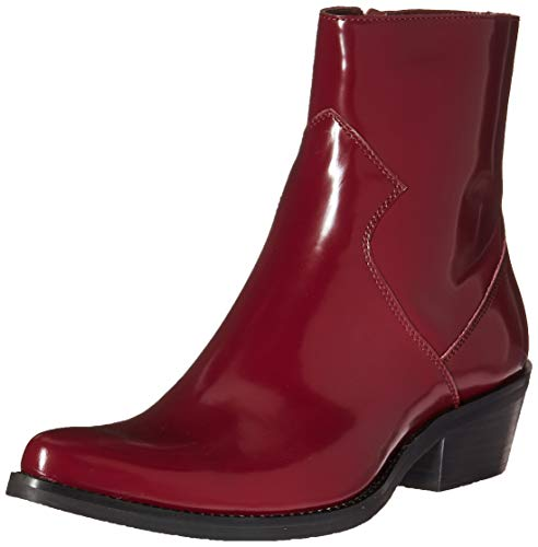 CK Jeans Men's Alden Ankle Boot Dark Burgundy Box Calf Leather 11 M US