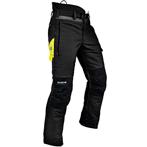 Pfanner Ventilation Schnittschutzhose Klasse 1 Gladiator Gewebe, Farbe:schwarz, Größe:XXXL
