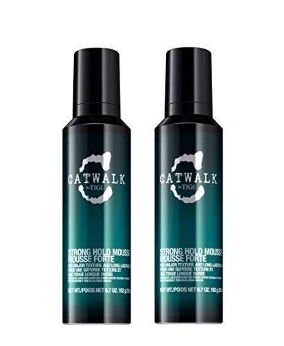 TIGI Catwalk - Mousse per capelli tenuta forte, 2 confezioni da 200 ml cadauna