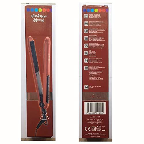 Formoso Plancha eléctrica para el pelo de mujer Galaxy Extreme Line Art. 6881-20OR