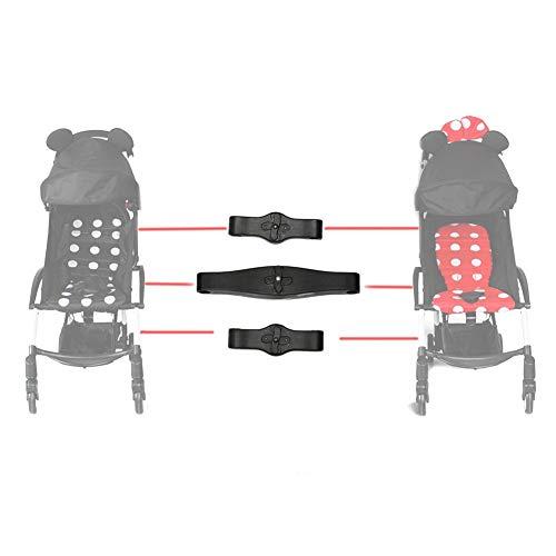 Verloco 3-delige connector voor babywagen voor tweelingen, verander twee eenvoudige kinderwagens in een dubbele wagen, compatibel met verschillende kinderwagens