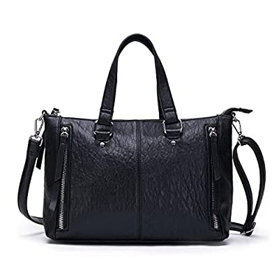 AFKOMST Black Purses and Handbags for Women Top