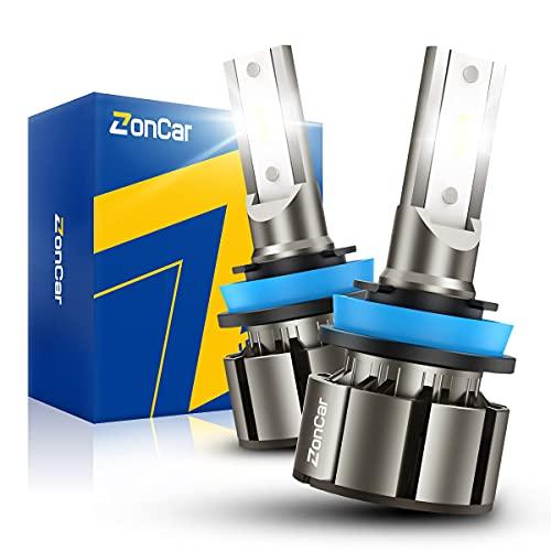 ZonCar H11/H9/H8 LED Bulbs 15000 Lumens, 400% Brightness Super Bright, 6500K...