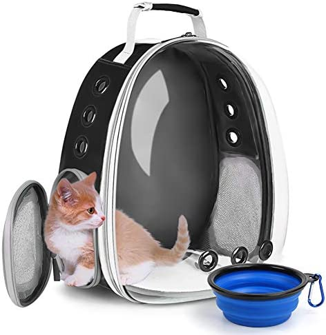 Cat Backpack Carrier Bubble Pet Carrier Backpack Dog Travel Carrier for Small Dogs Portable product image