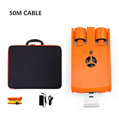 Mnjin Tragbare Tauchdrohne, 4K HD-Kamera für Unterwasseraufnahmen, 120 m32 G Speicherkapazität, Such- und Rettungsroboter für den Unterwasserbetrieb (Farbe: 50 m)