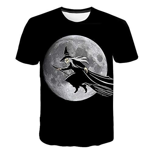 HOSD Disfraz de Halloween Camiseta de Manga Corta con impresin Digital 3D para Hombres y Mujeres