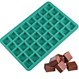 40 Cavity Square Caramel Candy Silicone Molds,Chocolate Truffles Mold,Whiskey Ice Cube Tray,Grid Fondant Mould,Hard Candy Mold Pralines Gummy Mold Jelly Mold