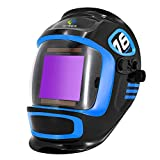 HITBOX Large Viewing Screen True Color Solar Powered Auto Darkening <span class='highlight'>welding</span> Helmet 4 Arc Sensor Wide Shade 4~5/9-9/13 for TIG MIG Arc Weld Grinding Welder Helmet (Model:LY800F)
