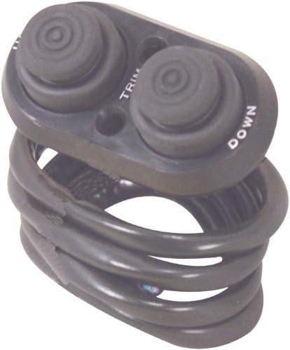 high quality T-H Marine TTC-1-DP wholesale Push Button Transom Trim Switch (Black) sale (Deluxe/Black) online