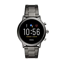 Smartwatches powered with Wear OS by Google work with iPhone and Android Phones. Case size: 44mm; Band size: 22mm; interchangeable with all Fossil 22mm bands Battery: 24 Hr + multi day extended mode **Varies based on usage and after updates install**...
