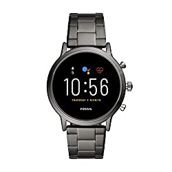 Fossil Gen 5 Carlyle Stainless Steel Touchscreen Men's Smartwatch with Speaker, Heart Rate, GPS and Smartphone Notifications - FTW4024,Fossil India Pvt. Ltd.,FTW4024