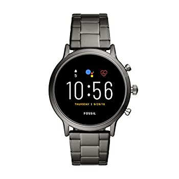 Fossil 44mm Gen 5 Carlyle Stainless Steel Touchscreen Smart Watch with Heart Rate Color  Smoke  Model  FTW4024