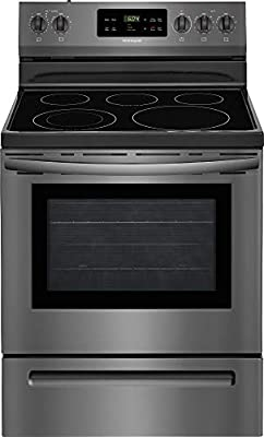 Frigidaire FFEF3054TD 30 Inch Freestanding Electric Range with 5 Elements, Smoothtop Cooktop, 5.3 cu. ft. Primary Oven Capacity, in Black Stainless Steel