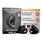 Decibullz - Custom Molded Earplugs, 31dB Highest NRR, Comfortable Hearing Protection for Shooting