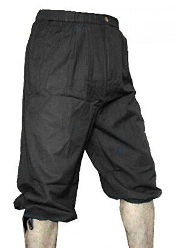 Battle-Merchant Kniebundhose zum Schnüren, schwarz Mittelalter LARP-Hose Größe M