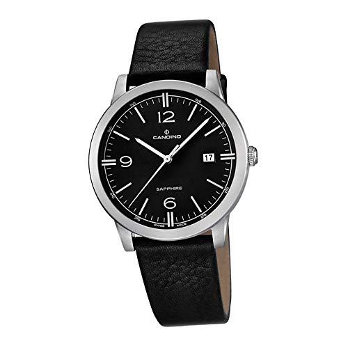 Candino Reloj de pulsera para hombre C4511/4, elegante, mecanismo de cuarzo, piel, negro, D2UC4511/4