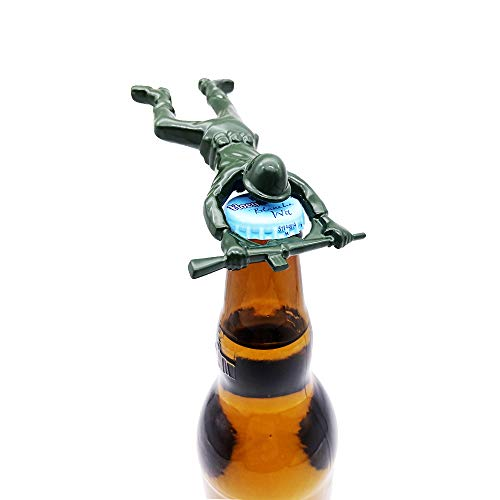 Green Army Man Bottle Opener,Unique Easy Opening Bottle Opener for Beer