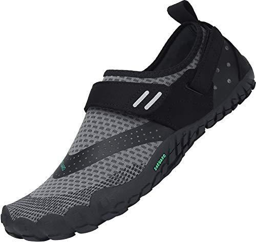 SAGUARO Trail-Laufschuhe für Männer Frauen Leicht Barfußschuhe Unisex Erwachsene Wassersportschuhe Quick Dry Wandern Schuhe rutschfest Barfussschuhe Verschleißfest Aquaschuhe Outdoor Sport, Grau 42