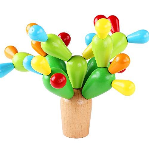 Lihgfw Holzpuzzlespielzeug for Jungen und Mädchen mit Demontage und Montage von Kakteen, Kinderpädagogikspielzeug, Training praktische Fähigkeit, Training Baby-Geduld, Gehirn entwickeln