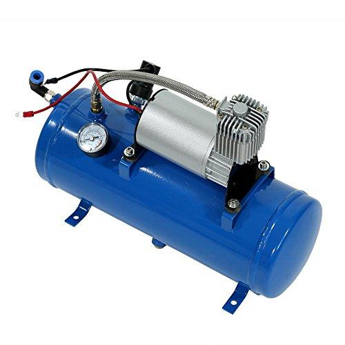 150psi Pompa Compressore D'aria, 12 V 6 Litri Compressore D'aria Kit Serbatoio Pompa per Veicolo Auto Camion Treno RV Corno D'aria 150 PSI con Built-in Auto Pressostato