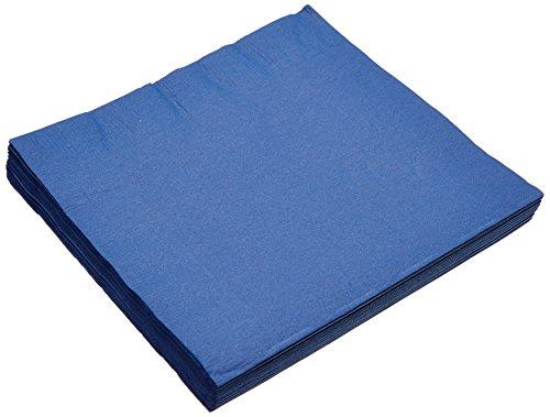 amscan 20 Servietten einfarbig blau, Papier