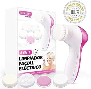 Cepillo Limpiador Facial Electrico 5 en 1 | Exfoliante Facial con 5 Cabezales Removibles Para Amplio Espectro De Belleza