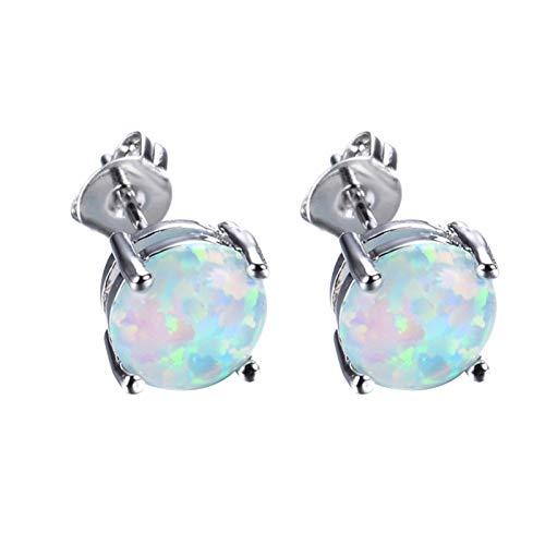 Moares Pendientes de perlas de imitación geométricas colgantes largos con forma de gota para mujer - 6 #, A, Hierro,