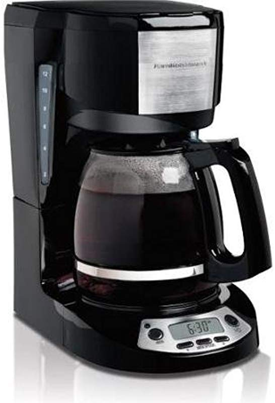 Hamilton Beach 12 Cup Coffeemaker With Programmable Clock 49615 Yes 12 Cup S Black Stainless Steel 49615