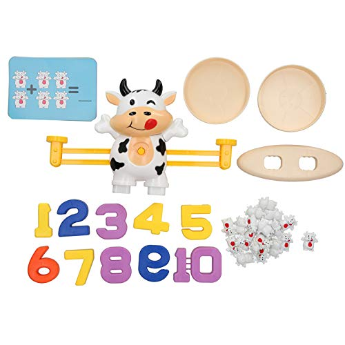 Liujaos Juguetes de balanza matemática, interesantes Juguetes de balanza sin Equilibrio, para niños Kis Grils Boys(Calf Balance (White))