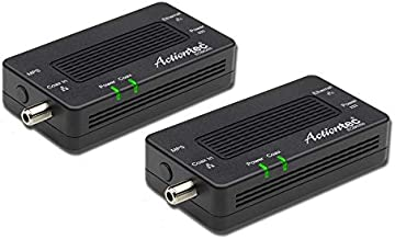 Actiontec MoCA 2.5 Network Adapter for Ethernet Over Coax (2 Pack) – 1 Gbps Ethernet, Coax to Ethernet Adapter, Enhanced Streaming and Gaming (Model: ECB6250K02)