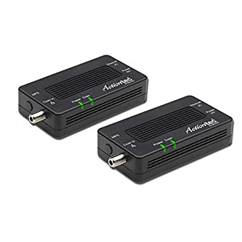 Actiontec by Screenbeam MoCA 2.5 Network Adapter for Ethernet Over Coax  2 Pack  – 1 Gbps Ethernet Coax to Ethernet Adapter Enhanced Streaming and Gaming  Model  ECB6250K02