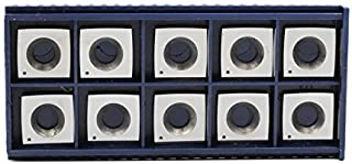 YUFUTOL 4 Inches Face Radius Carbide Cutter Insert For Wood Working(15mm length X15mm width X2.5mm thickness) Fits Byrd Journal(Helical) Heads,Pack of 10, Wood working Replacement inserts