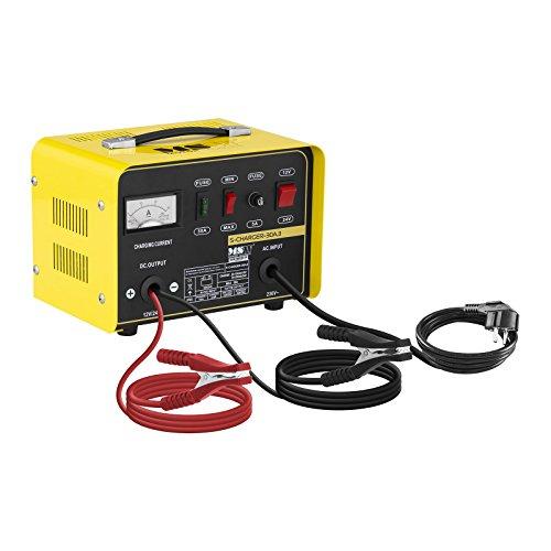 MSW Autobatterie Ladegerät Kfz Batterieladegerät S-CHARGER-30A.3 (Kühlsystem, 12/24 V Ladespannung, 15/20 A Ladestrom, 20-250 Ah, 650 W, angepasste Ladestärke MIN/MAX, kompakt)