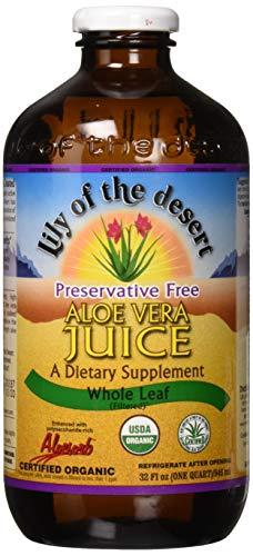 Price comparison product image Lily Of The Desert PF Whole Leaf Aloe Vera Juice,  32 Fluid Ounce