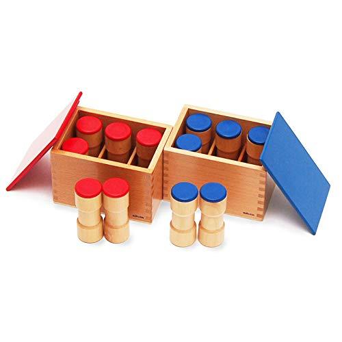 【MONTE Kids】モンテッソーリ教具 -- 雑音筒 -- Montessori 知育玩具教具 幼児早期教育 モンテキッズ 本格...