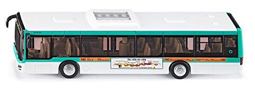 siku 3734001, Stadtbus RATP Frankreich, 1:50, Metall/Kunststoff, türkis/weiß, Öffenbare Türen